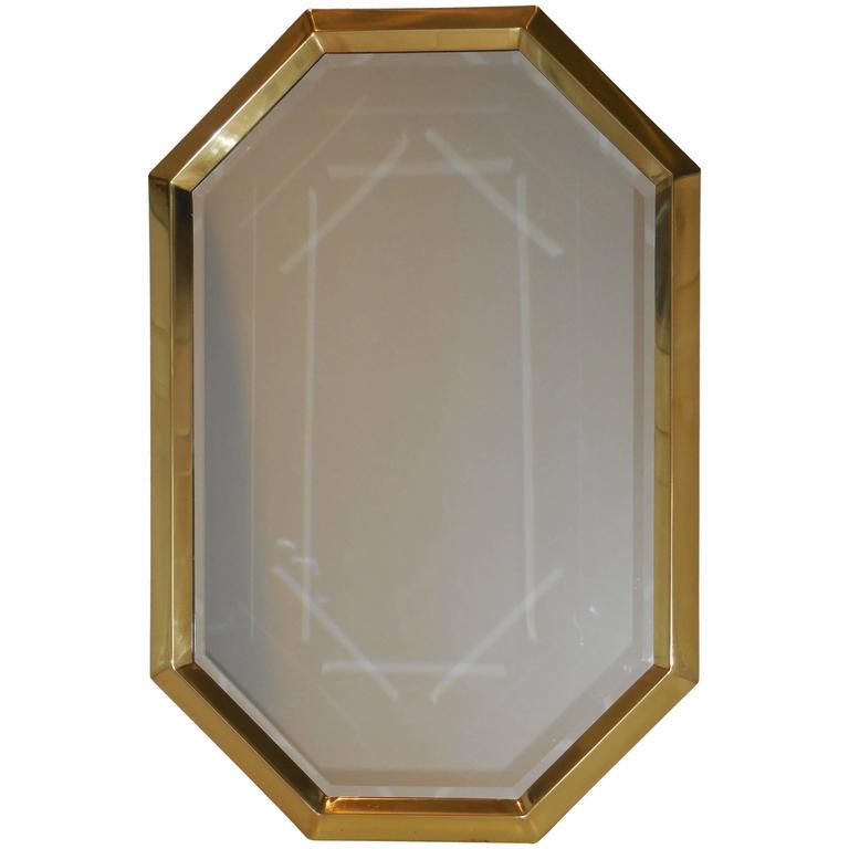 Beautiful Geometric Hexagon Mirror For Sale