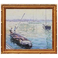 Pulling in the Nets, Coastal Scene by William Patty