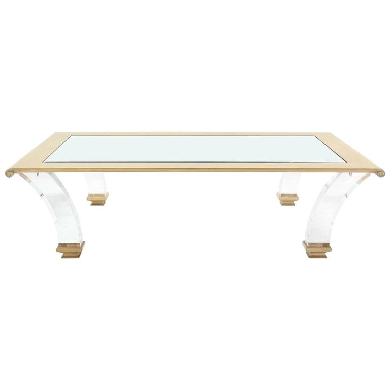 Very large rectangle coffee table with glass top on bent for Large glass top coffee table