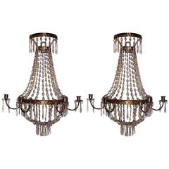 Pair of Large Neoclassic Sconces
