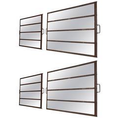 Set of Four Iron mirrors