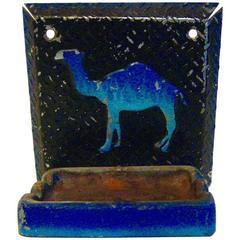 Vintage Wall Mounted Camel Ashtray