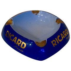 Vintage Ricard Anisette Ceramic Ashtray