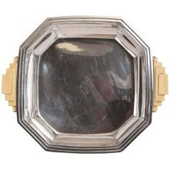 Tétard Frères Attributed Modernist Art Deco Sterling Silver Serving Vessel