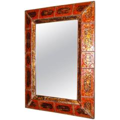 Reverse-Painted Framed Mirror