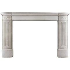 Antique English Regency Statuary Marble Fireplace Mantel