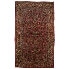Antique Persian Sarouk Rug with Victorian Style