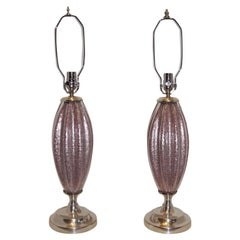 Pair of Murano Glass Table Lamps