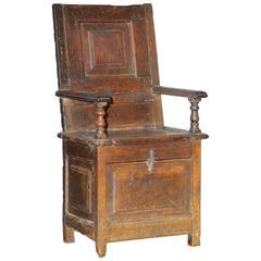 English Oak Monk's Chair, 16th Century