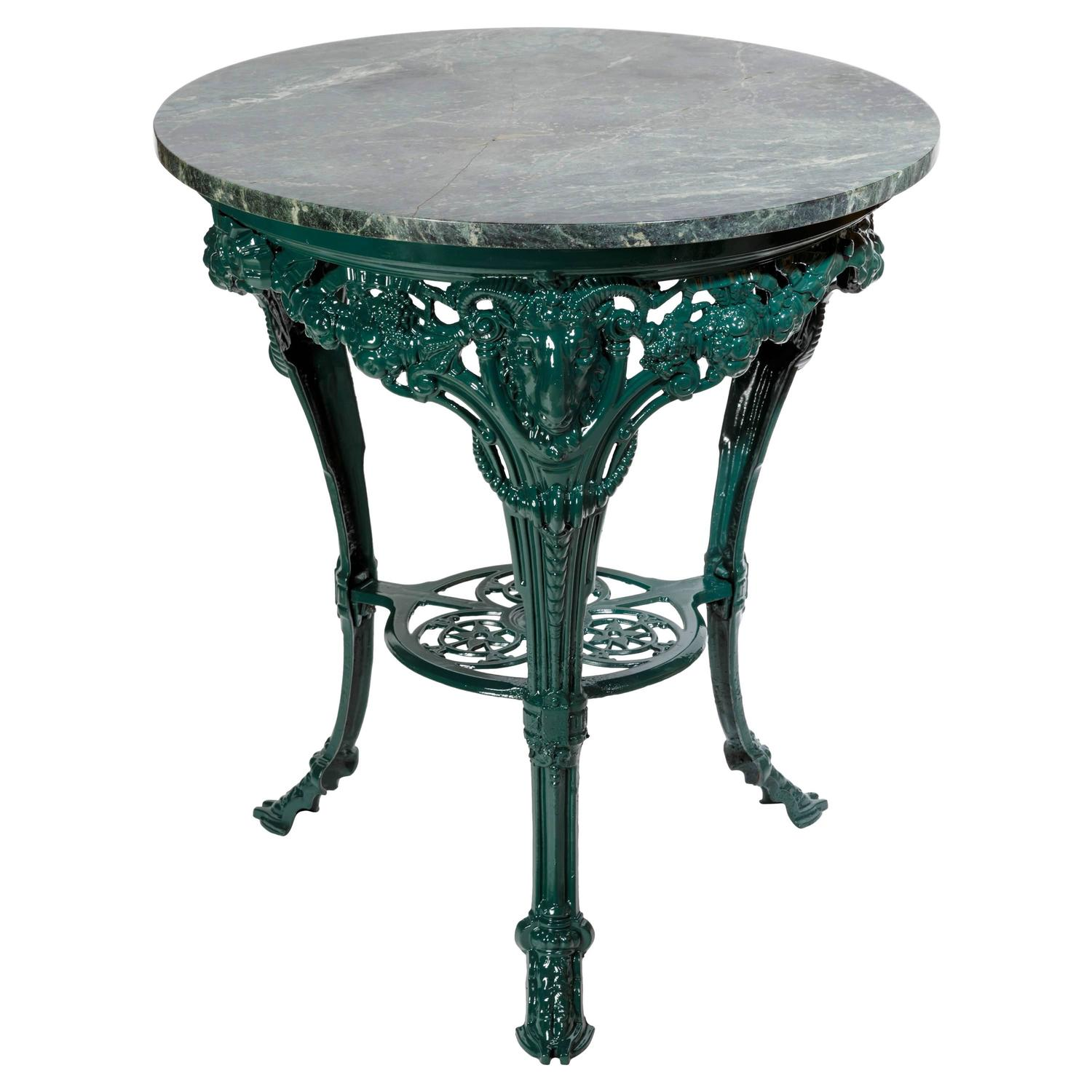 English Circular Cast Iron Ram S Head Leg Pub Table At 1stdibs
