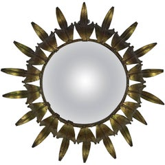 Spanish Sunburst Mirror with Convex Glass