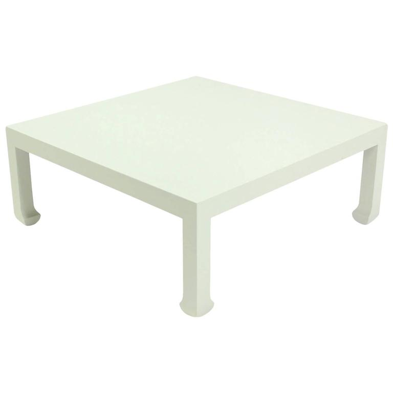 Large Cloth Covered Square Coffee Table For Sale At 1stdibs