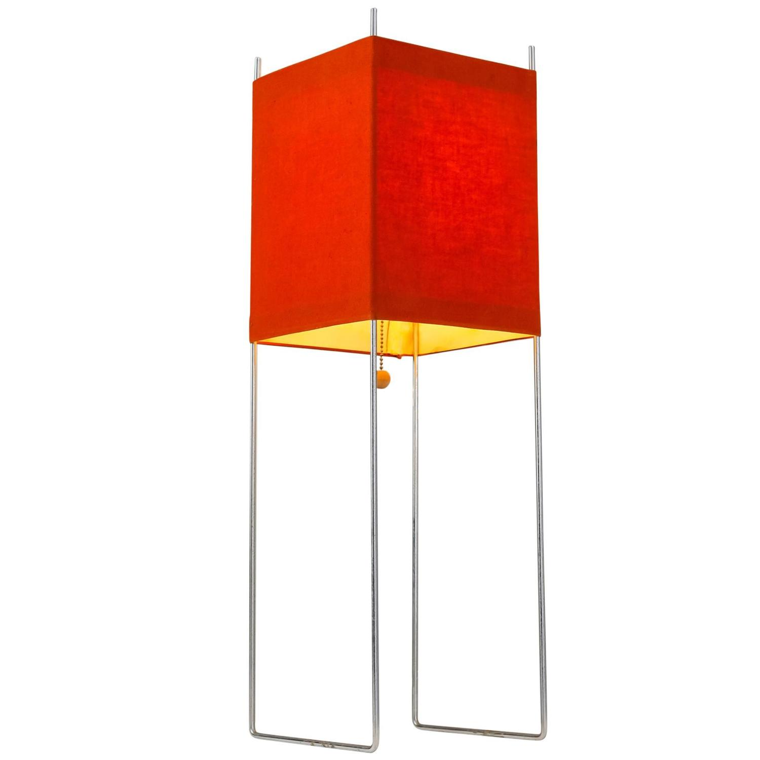 George Nelson Red Kite Table Or Floor Lamp, USA, 1970s For Sale At 1stdibs