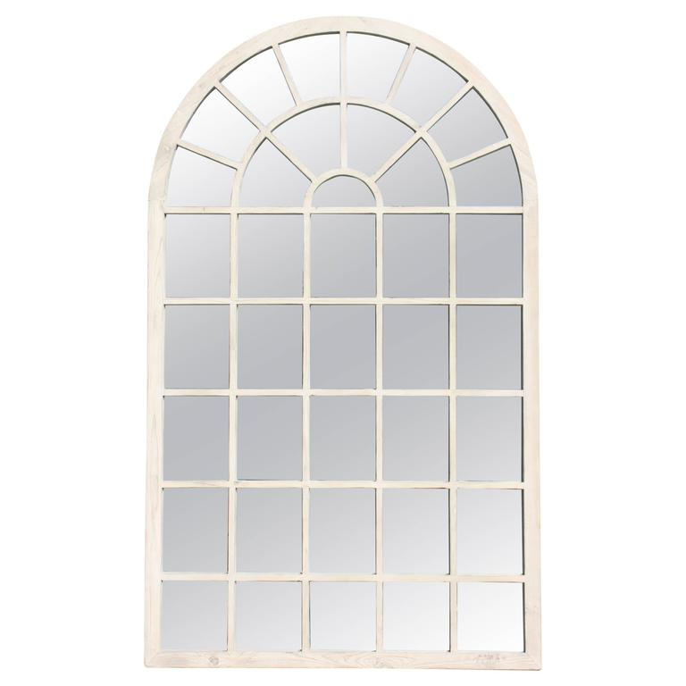 Favorite Contemporary 1980s Belgium White Washed Oversized Arch Window  MF38