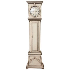 Painted French 19th Century Case Clock