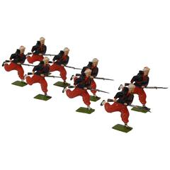 Britains Toy Set #142, French Zouaves Charging with Fixed Bayonets, 1930-1940