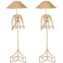 Mario Torres Monkey Floor Lamps