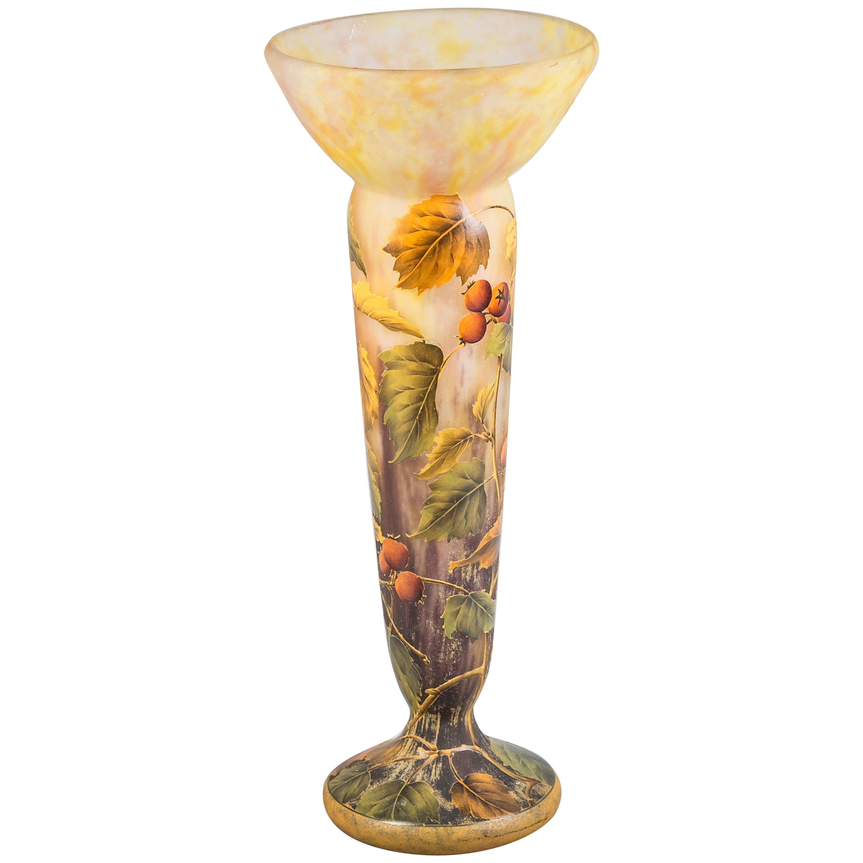 Daum Nancy Fruit Vase, circa 1900