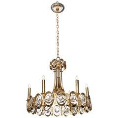 Palwa Brass, Hanging Crystal, Six Candlestick Hanging Pendant