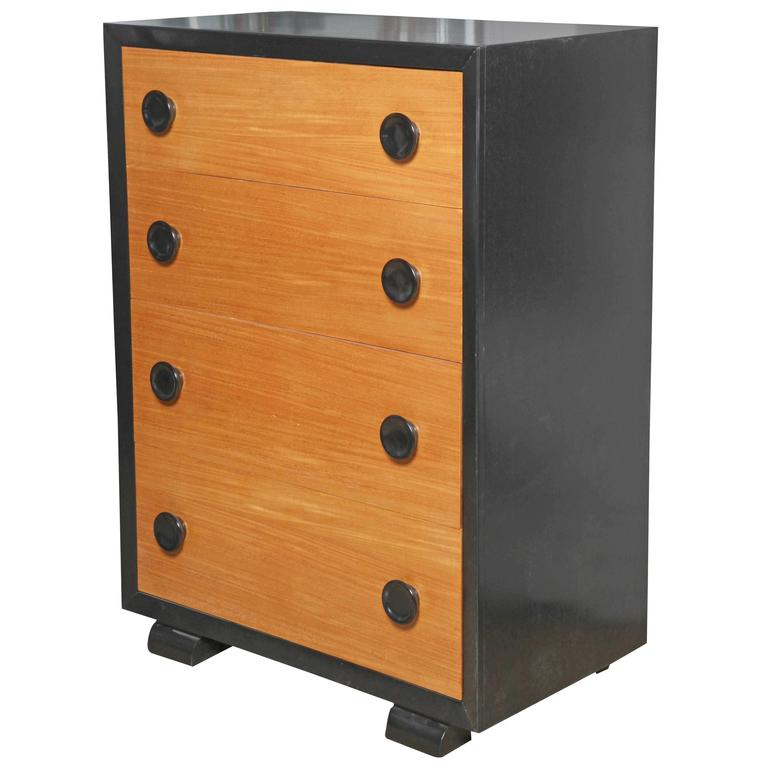 Great Tall Americraft Art Deco Mahogany U0026 Black Ebonized Mahogany Dresser 1