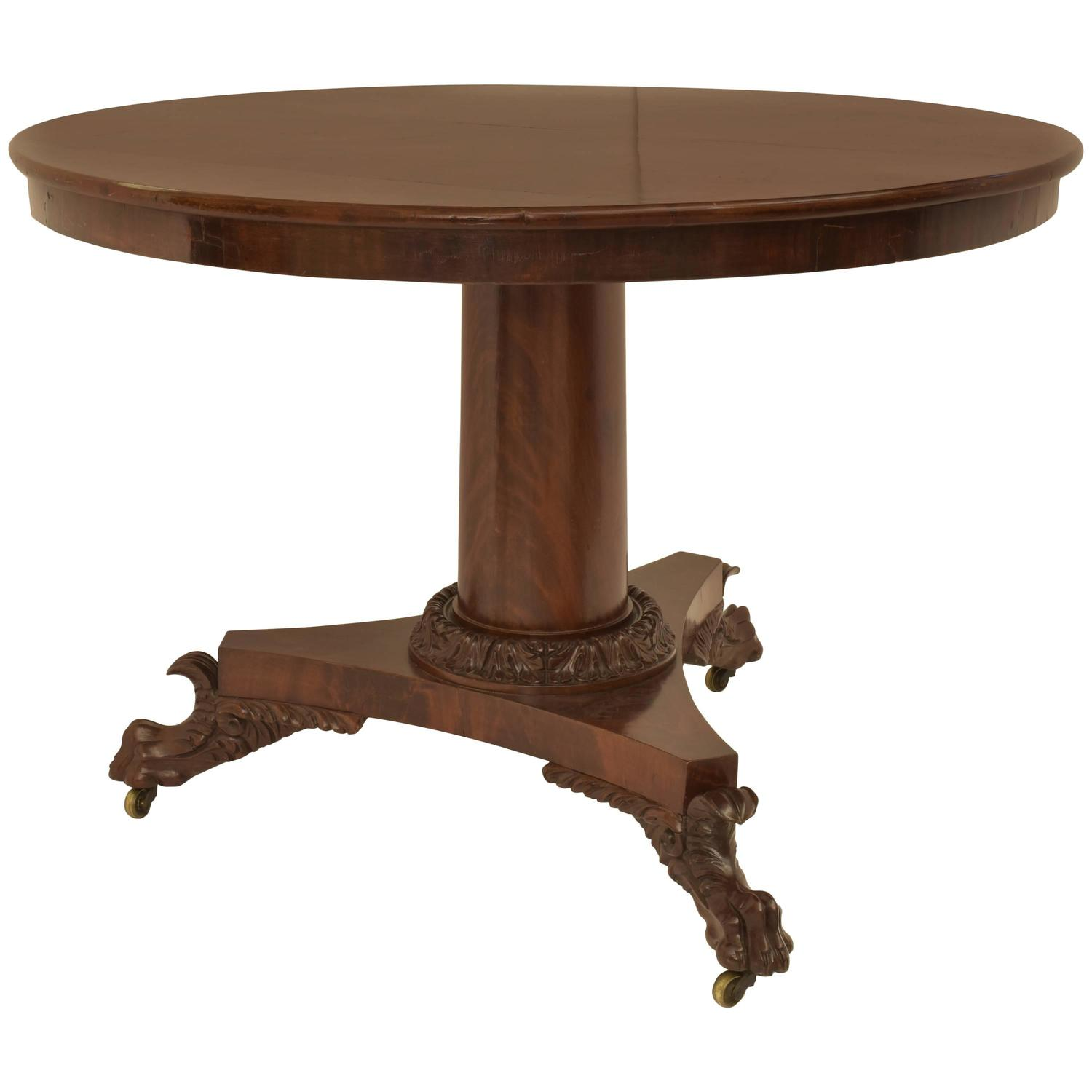 Round mahogany center table 19th century for sale at 1stdibs for Table th center text