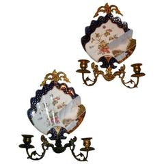 Japanese Porcelain Sconces