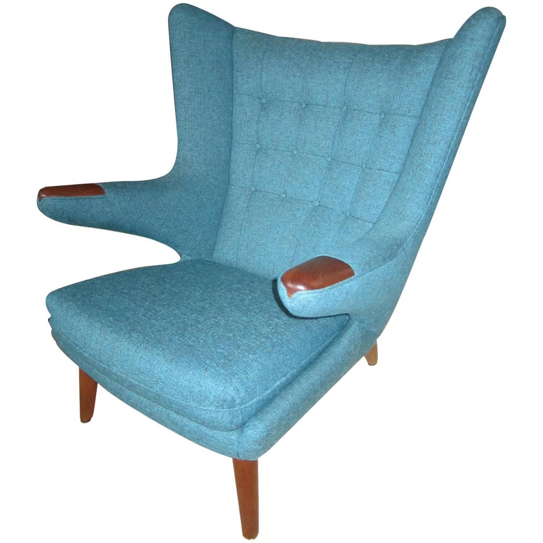 Fabulous Hans Wegner Papa Bear Chair Mid Century Danish Modern For