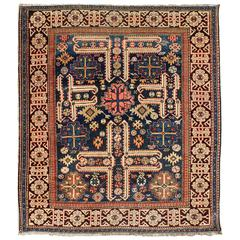 Antique Caucasian Karaghashli Rug