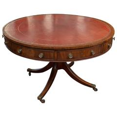 19th Century English Regency Mahogany Library Table