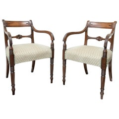 Pair of Fine English Regency Mahogany Armchairs, circa 1820