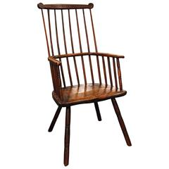 English Yorkshire Oak and Elm Primitive Chair