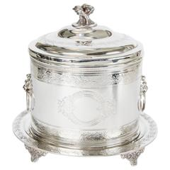 Silver Plate Biscuit Box, circa 1880
