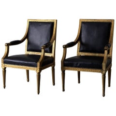 Armchairs Pair Swedish Gustavian Sweden