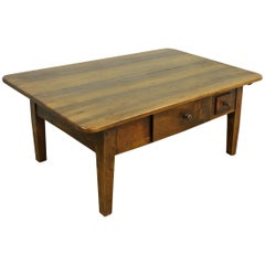 Antique French Walnut Alsacian Coffee Table