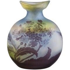 Galle Cameo Glass Vase, circa 1900