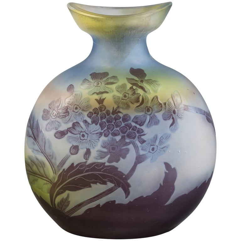Galle Cameo Glass Vase Circa 1900 For Sale At 1stdibs