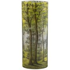 Daum Nancy Cylindrical Vase, circa 1910