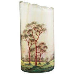 Lamartine Cameo and Enameled Glass Vase, circa 1920