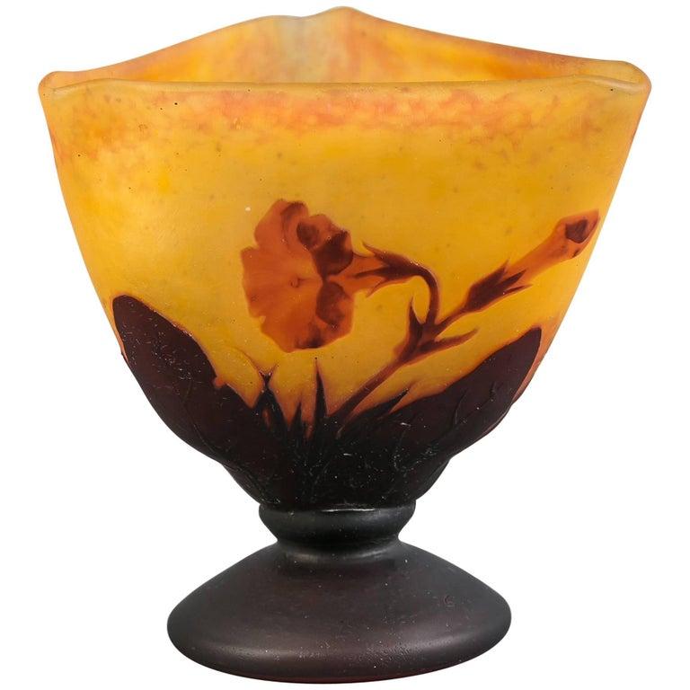 Daum Nancy Wheel Carved Vase, circa 1910