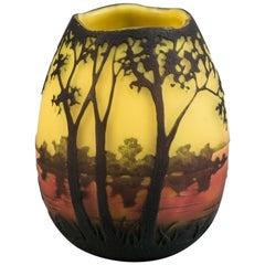 Daum Nancy Landscape Vase, circa 1910