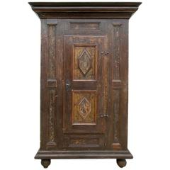 Swedish 17th Century Baroque Cupboard