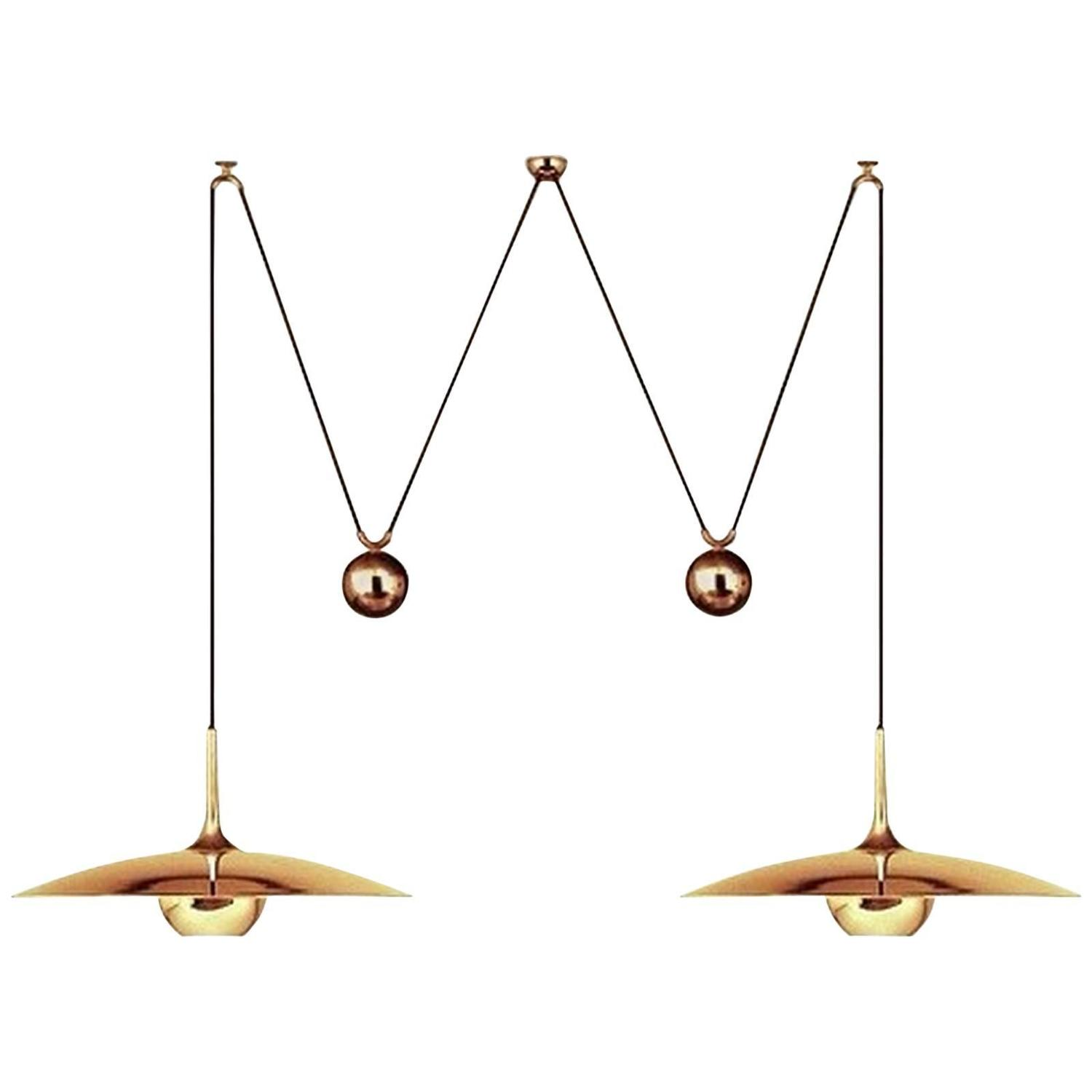 pendant light with two center counterweight by