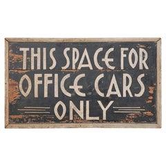 Deco Car Parking Sign