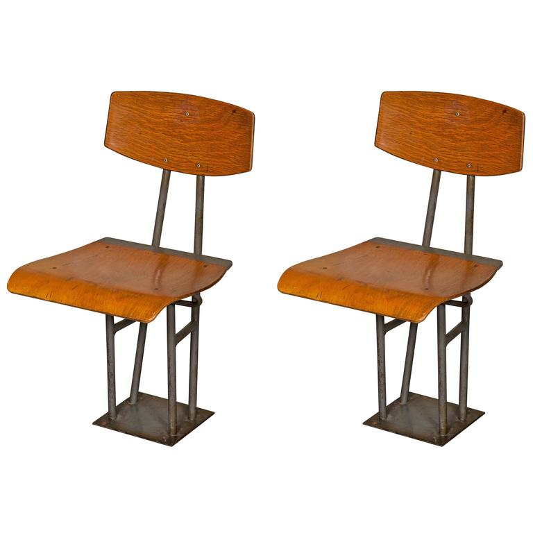 Vintage Folding School Chairs 190 Available At 1stdibs