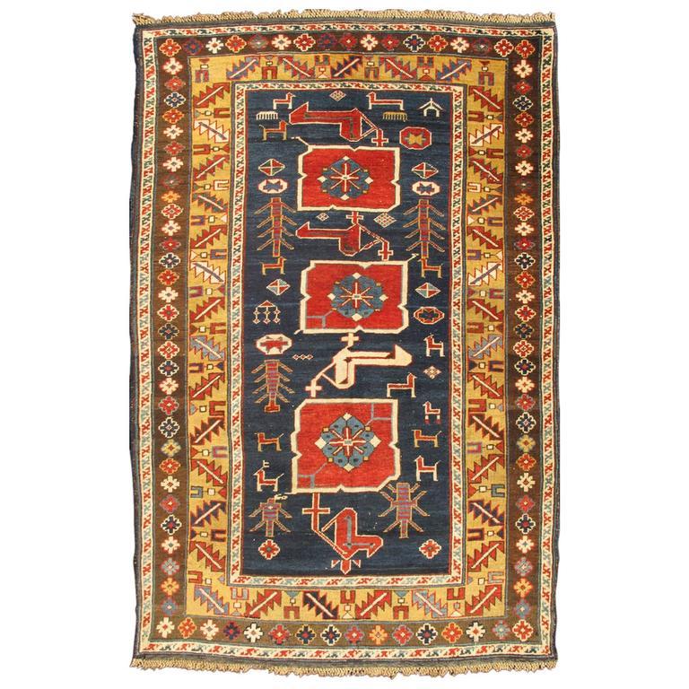 Antique Caucasian Karaqashl Rug 1