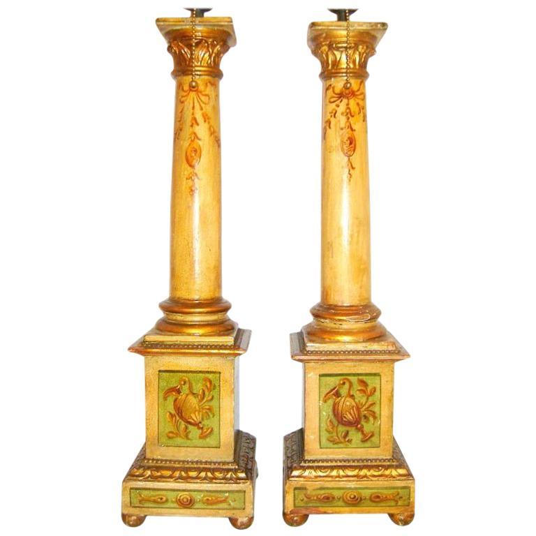 Hand Painted Italian Table Lamps