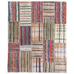 Colorful Cotton Turkish Rag Rug