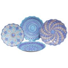 Iranian Minakari Plates, Vitreous Enamel on Copper