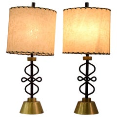 Two 1950s Table Lamps by Majestic, New York