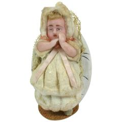 German Wax Baby Candy Container